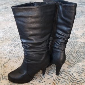 TOP Moda Mid-Calf Heeled Boots